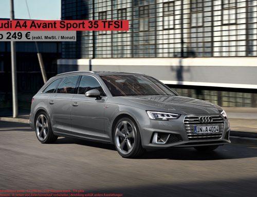 Top Deal! Audi A4 AVANT SPORT 35 TFSI für 296 EUR brutto (Leasingfaktor 0,70!!)