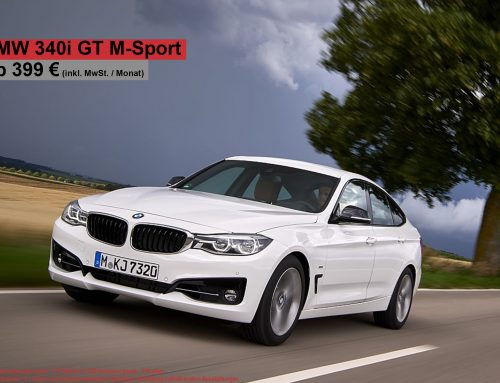 Top Deal! BMW 340i GT für 399 EUR brutto (Leasingfaktor 0,55!!)