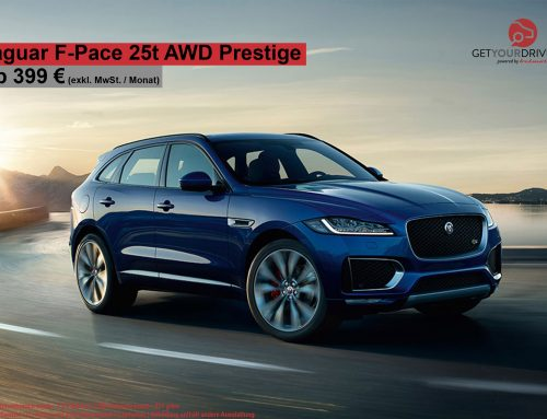Top Deal!!! Der Jaguar F-Pace 25t AWD Prestige ab 399€ netto!
